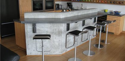 Gfrc Countertop, Gfrc Bar Site Absolute ConcreteWorks Port Townsend, WA