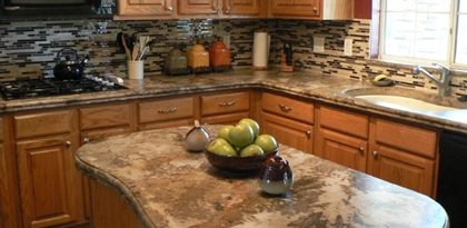 Island, Kitchen, Counter Site The Ashby System Santee, CA GFRC Admixture  System Creates Beautiful Marbelized CountertopsConcrete Countertop Solutions