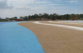 Pervious Concrete, China, Beach Site Bomanite Group International