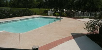 Pool Deck Before Site Decorative Concrete Institute Temple, GA