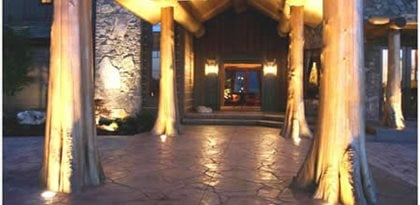 Stamped Concrete, Natural Stone Stamped Concrete Site Riverstone Stamped Concrete Spokane, Washington