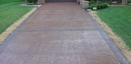 Straight, Brown, Stamped, Borders, Bands Site J&H Decorative Concrete LLC Uniontown, OH