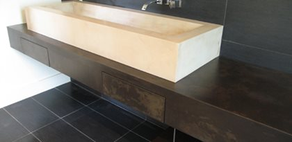 Trough Sink, Modern Concrete Sink Site JM Lifestyles Randolph, NJ