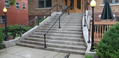 Gray, Concrete, Stairs Something Different Mattingly Concrete Indianapolis, IN