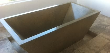 Bathtub, Concrete, Black Tubs and Showers DC Custom Concrete San Diego, CA