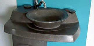 Slate Gray, Pedestal Concrete Sinks Dan Roman Studio Arvada, CO