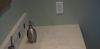 Brown Speckled Sink Concrete Countertops Lampe Concrete Studio San Marcos, CA