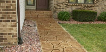 concrete walkways special effex loves park il sidewalk home walkway ideas edepremcom walkway designs - Sidewalk Design Ideas