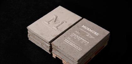 Concrete, Business Cards Site Murmure Caen,