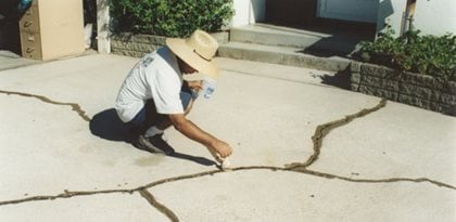 Crack Repair, Prime Cracks Site ConcreteNetwork.com ,