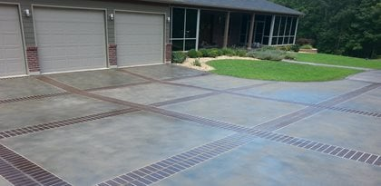 Concrete Driveway Design Ideas pattern imprinted concrete altrincham Custom Faux Designs And Concrete Engraving Site Custom Faux Decorative Concrete