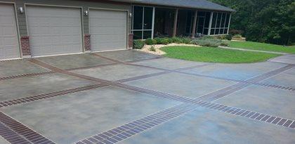 Concrete Driveway Design Ideas concrete driveway drying time Custom Faux Designs And Concrete Engraving Site Custom Faux Decorative Concrete
