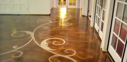 Customize floors with patterns and sawcuts the concrete for How to clean scored concrete floors