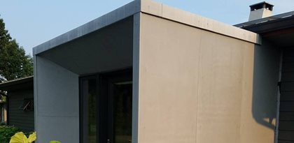 Modern Entryway, Concrete Panels Site Marveled Designs Chatham, NY