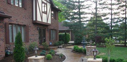 Pillars, Lights, Walkway Site J&H Decorative Concrete LLC Uniontown, OH