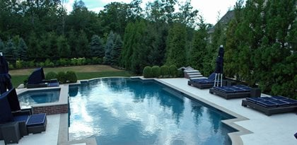 Stamped Concrete Pool Deck Site Unique Concrete West Milford, NJ