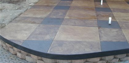 Stained Patio Concrete Patios John's Cement Milford, MI