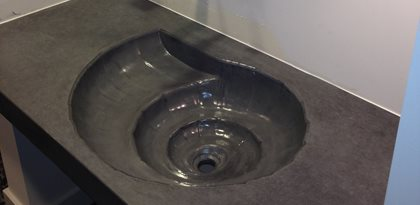 Sink bowl bathroom - Concrete Sink Tub And Shower Project Profiles The