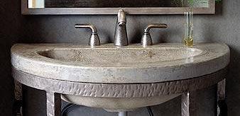 Great Half Circle, Pedestal Concrete Sinks Bradley Hughes Atlanta, GA