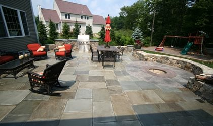 Rectangles, Fire Pit Site New England Hardscapes Inc Acton, MA