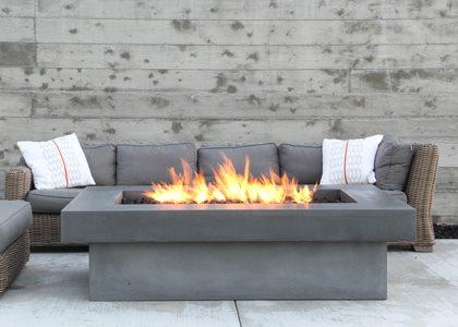 Fire Table, Cast Concrete Outdoor Fire Pits Concrete Wave Design Anaheim, CA