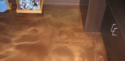 Epoxy Floor Coating, Brown Epoxy Floor Concrete Floors Innovative Concrete Design Indio, CA