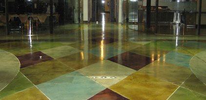 染色混凝土地板,染色混凝土,混凝土染色混凝土地板Demmert & Associates Glendale, CA