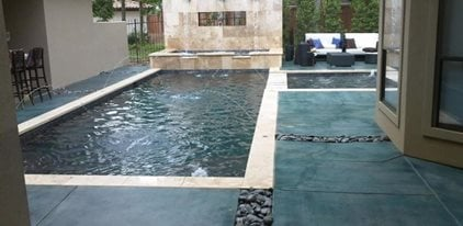 Concrete Pool Ideas pool simple and stylish designs ideas pictures of infinity pools with dark wooden deck for Concrete Patios Bdc Ltd Longview Tx