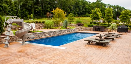 concrete pool deck concrete patios espj construction corp linden nj - Deck Design Ideas