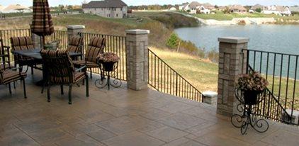 Elevated Balcony, Patio Over Lake Concrete Patios Artisticrete, LLC Noblesville, IN