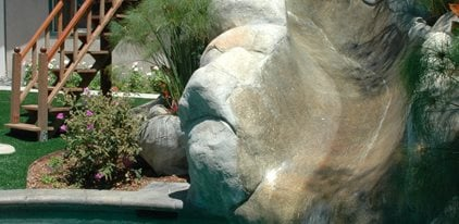 Faux Rock, Water Slide Concrete Patios The Green Scene Chatsworth, CA