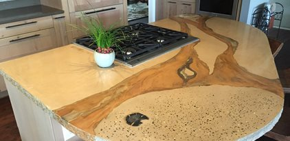 Kitchen Countertop Concrete Patios Absolute ConcreteWorks Port Townsend, WA