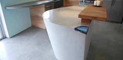 Light Grey, Modern Counter, Modern Kitchen Insland Concrete Patios DC Custom Concrete San Diego, CA