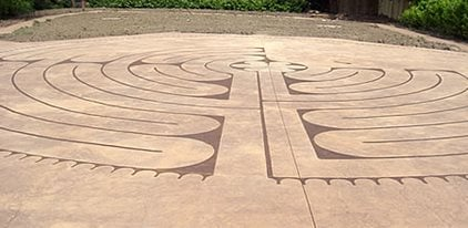 Stained Labyrinth Concrete Patios De Verdon - UK UK,