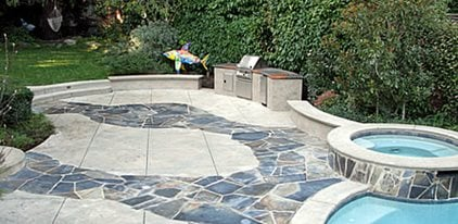 Stamped, Stone Concrete Patios Tom Ralston Concrete Santa Cruz, CA