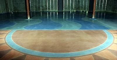 Brown, Aqua Polished Concrete Cuviello Concrete Arnold, MD