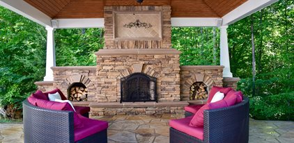 outdoor fireplace outdoor pavilion site greystone masonry inc stafford va