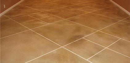 Stained Light Brown Floor Site Decorative Concrete Plus Chaffee, MO