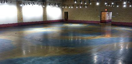 Swirls Of Blue And Caramel Dye Site Nick Dancer Concrete Fort Wayne, IN
