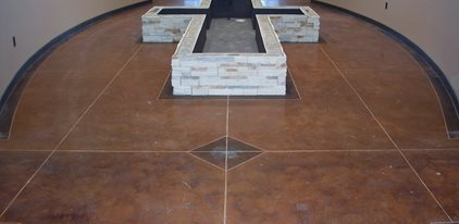 Cross Fountain Without Caps Concrete Floors Solid Rock Concrete Services Gravette, AR
