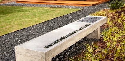 Concrete Bench and Waterfall in One from John Ziebarth, Turning Stone ...