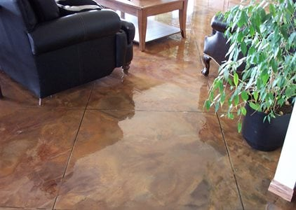 Concrete flooring finishing styles colors and options for Concrete floor finishes
