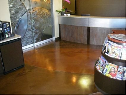 metallic coating concrete floor