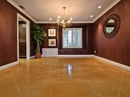 Concrete, Floor, Living Room, Diamond, Tan Concrete Driveways ACI Flooring Inc Beaumont, CA