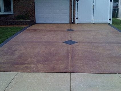 Driveway, Stained Concrete Driveways James Concrete Polishing Epoxy Coatings Lake In The Hills, IL