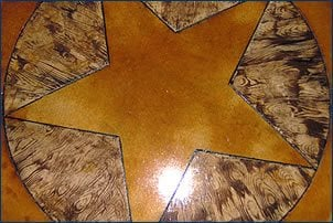 Stained concrete wood floor