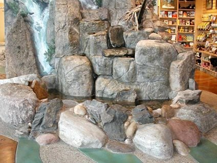 Boulders, Stream Concrete Floors Colorado Hardscapes Denver, CO