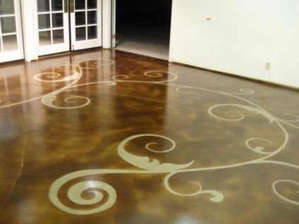 stained concrete price concrete staining cost and price ranges the. Black Bedroom Furniture Sets. Home Design Ideas