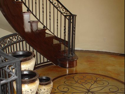 Stenciled, Entryway Concrete Floors Image-N-Concrete Designs Larkspur, CO