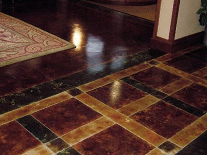 Umber, Black Concrete Floors Kemikoating Surfaces Portland, OR